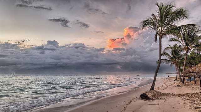 Sunset at the Beach in the Dominican Republic